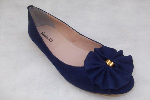 373e9922ca Peep toe azul marinho (Ref. 064) - Sandra Rê sapatilhas