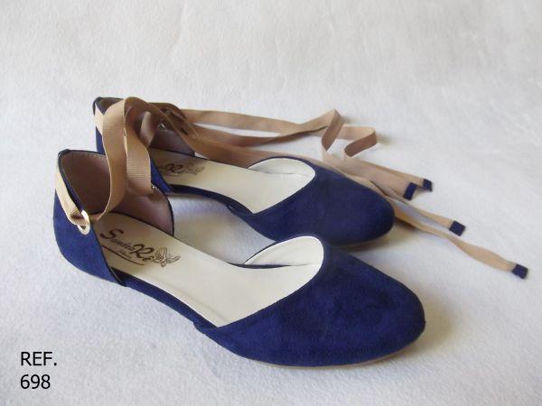 4f9d27e877 Sandália azul marinho (Ref. 698) - Sandra Rê sapatilhas
